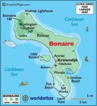 Kaart Bonaire